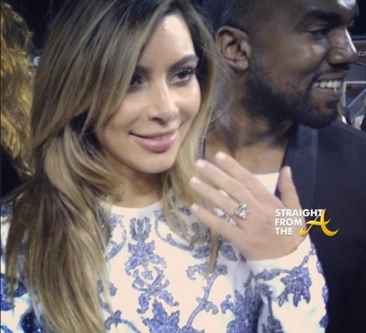 Kim Kardashain Engaged Kanye StraightFromTheA