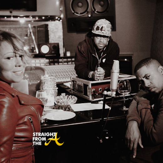 Mariah Carey in studi with JD and Nas 2013 StraightFromTheA
