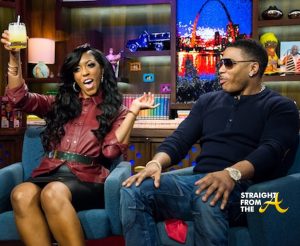 Porsha Stewart and Nelly WWHL 1
