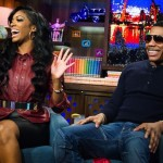 Porsha Stewart and Nelly WWHL 12