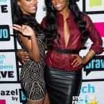 Porsha Stewart and sister Lauren WWHL 1