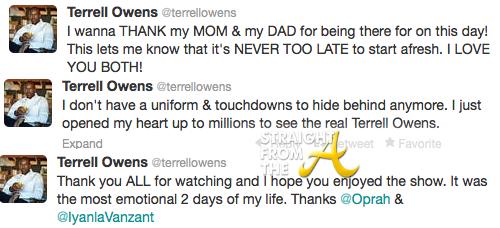 Terrell Owens Tweets