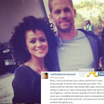 Nathalie Emmanuel Paul Walker 2013
