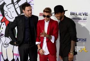 Usher Justin Bieber Premiere 2013-10