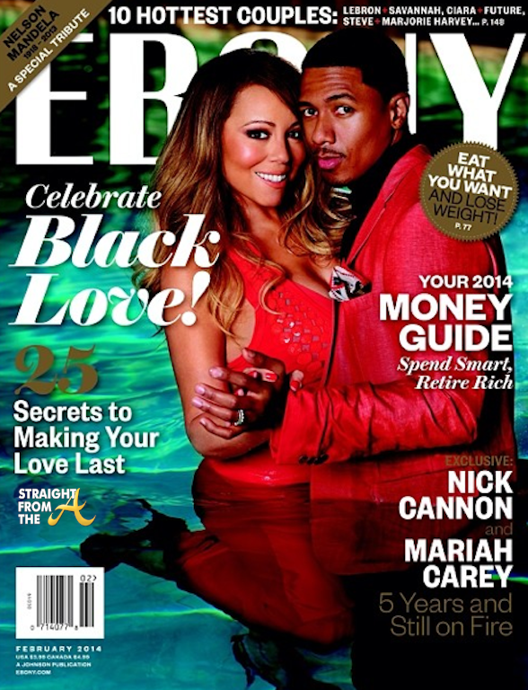 Nick Cannon and Mariah Carey Ebony Black Love 2014