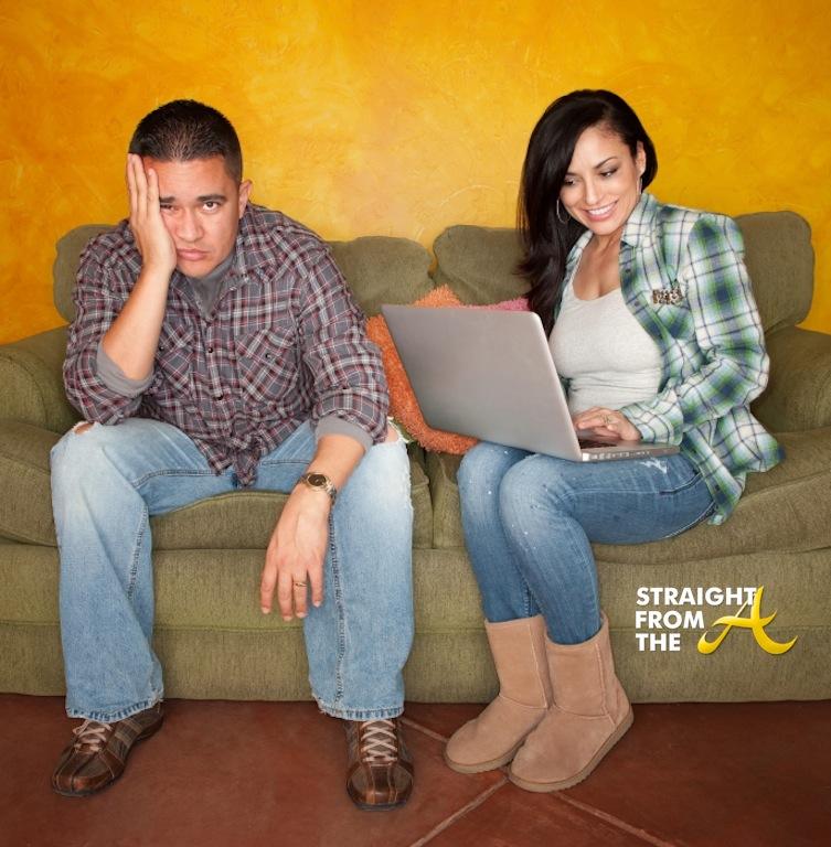 Hispanic Couple Names Hispanic Couple on Green Couch