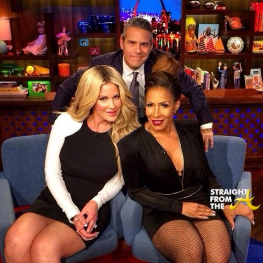 Kim Zolciak Sheree Whitfield WWHL 031614 StraightFromTheA