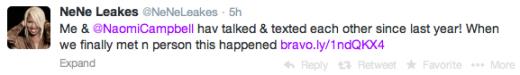 Nene Leakes Tweet