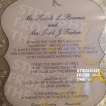 Kandi Burruss Todd Tucker Wedding Invitation StraightFromTheA