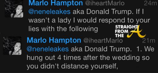 Marlo Hampton vs Nene Leakes 2014 StraightFromTheA