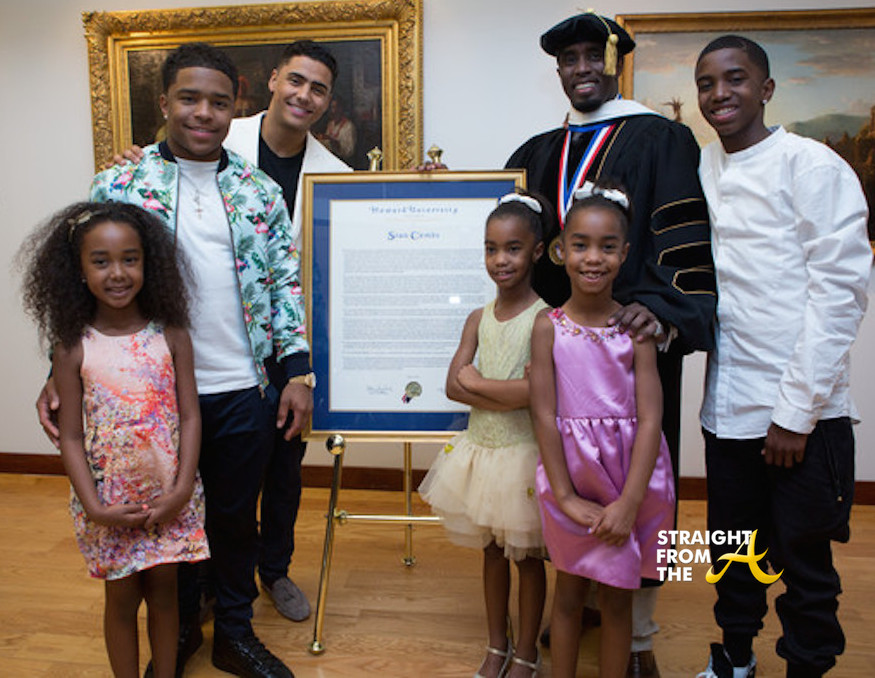 diddy and kids � howard commencement 2014