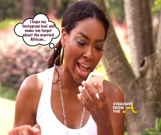 Kenya Moore Cell Phone StraightFromTheA
