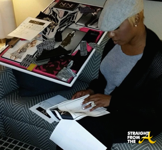 Hot or Nah? #RHOA Nene Leakes Shares Photos of New Fashion Line + 'Customizes' Birkin With Slogans… [PHOTOS]