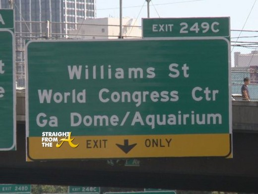 Georgia Dome/Aquarium Sign Misspelled 2014