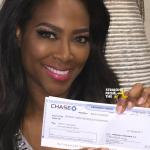 Instagram Flexin – #RHOA Kenya Moore Cuts $20,000 Check to Detroit Public Schools….