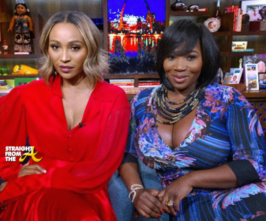 Cynthia Bailey Bevy Smith - WWHL - StraightFromTheA