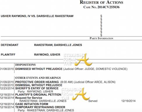 Usher Raymond v. Darshelle Jones-Rakestraw 2014