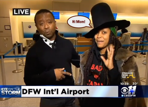 'Like a Pimp!' Erykah Badu Crashes Another Live News Report… [VIDEO]