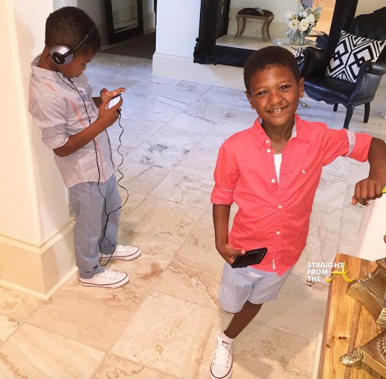 Usher tameka kids cinco naviyd 2015