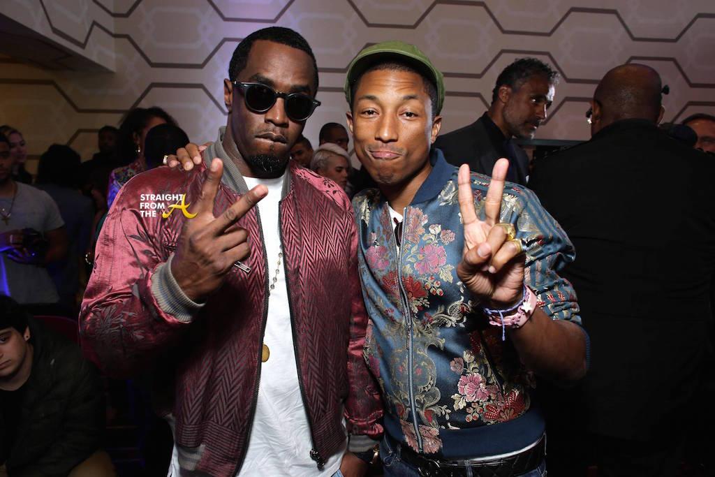 Photo of Sean Combs & his friend  Pharrell Williams