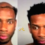 Before and After - Man weave