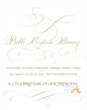 Bobbi Kristina Funeral Program