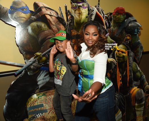 Celebrity Kids: #RHOA Phaedra Parks' &  Son Ayden Attend 'Teenage Mutant Ninja Turtles 2' Private Screening… (PHOTOS)